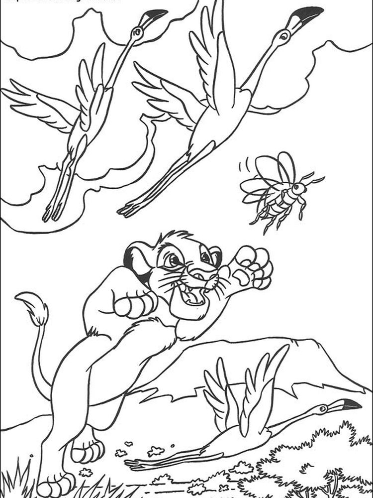 lion king coloring pages pumbaa