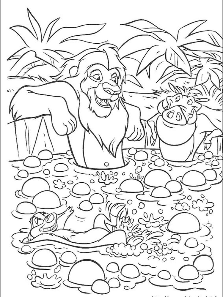 lion king colouring pages online