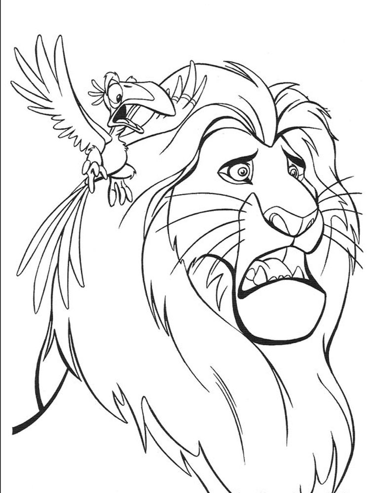 lion king halloween coloring pages