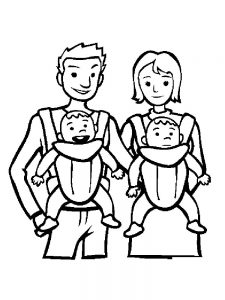 little baby coloring pages free