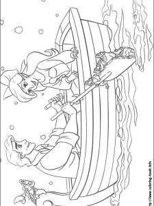 little mermaid coloring book page