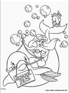 little mermaid coloring pages games