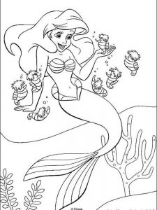 little mermaid coloring pages online