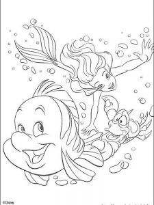 little mermaid coloring pages pdf