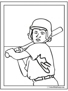 major league baseball coloring pages