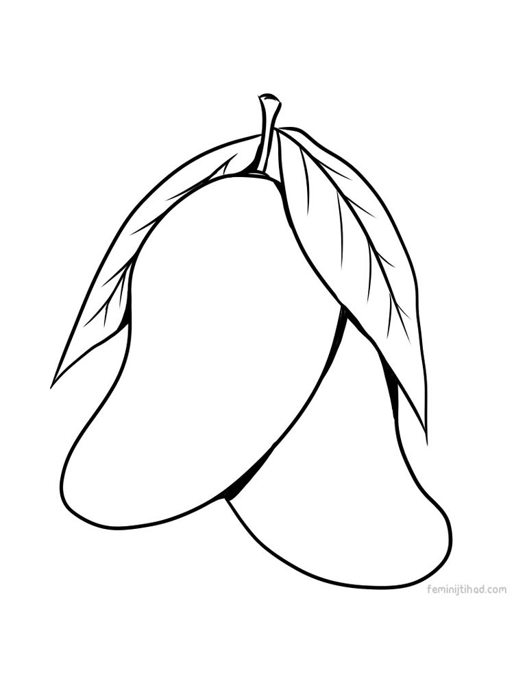 mango coloring page for print pdf