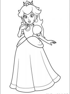 mario and friends coloring pages
