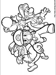 mario and luigi coloring pages free