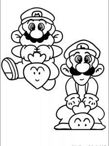 mario and luigi coloring pages to print