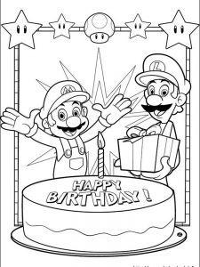 mario coloring pages luigi