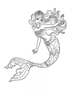 mermaid coloring pages for adults free