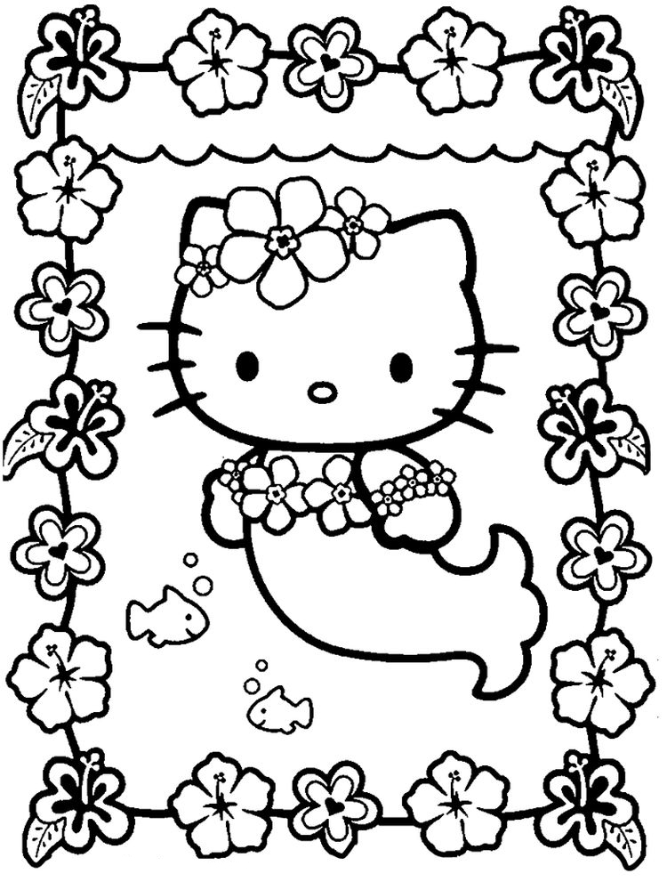 mermaid coloring pages to print for free