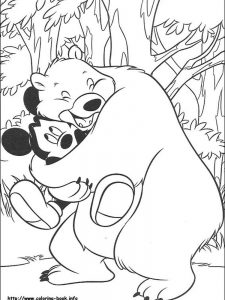 mickey mouse car coloring page
