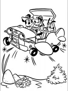 mickey mouse coloring page free printable