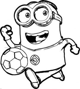 minion coloring pages bob football