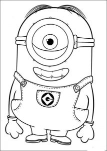 minion coloring pages carl