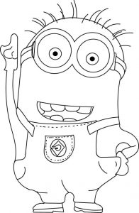 minion coloring pages phil