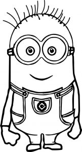 minion coloring pages tom