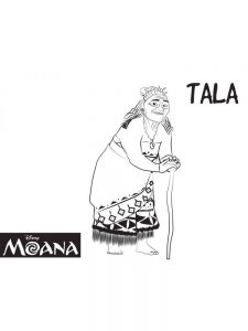 moana coloring pages easy