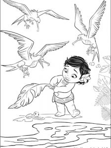 moana coloring pages free