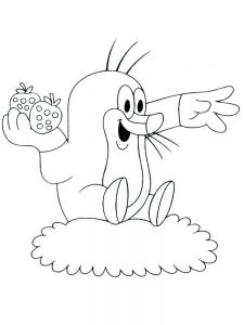 mole coloring page image