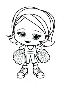 monster high cheerleader coloring pages printable