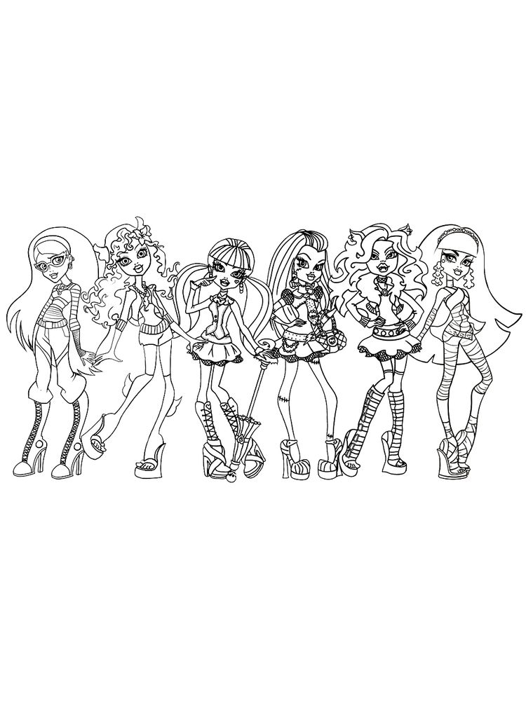 monster high coloring pages 002 1
