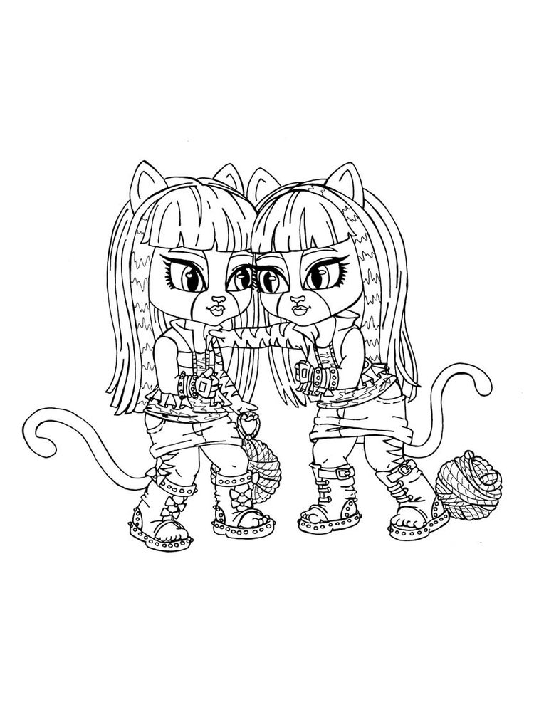 monster high coloring pages 010