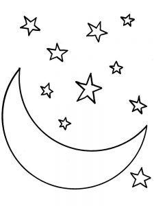 moon and stars coloring pages for adults