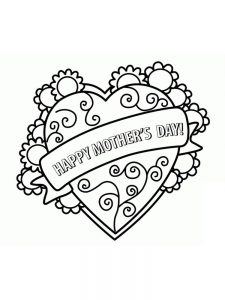mothers day coloring pages easy