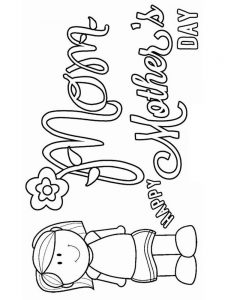 mothers day coloring pages for sunday school
