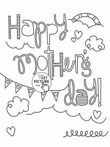 mothers day coloring pages pdf