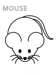 mouse a cookie coloring page