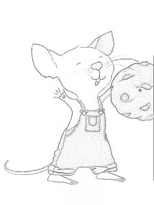 mouse coloring page adults