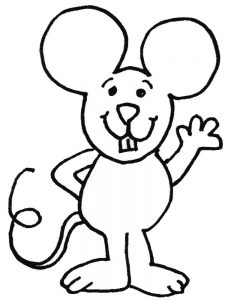 mouse coloring pages free