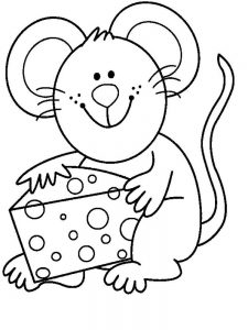 mouse coloring pages kids