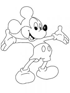 mouse coloring pages mickey free