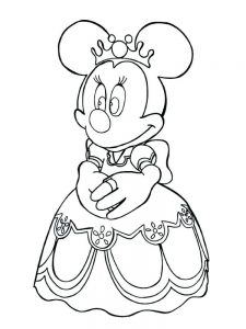 mouse coloring pages minnie