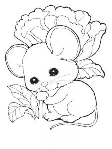 mouse coloring pages pdf