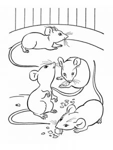 mouse coloring pages pdf pic