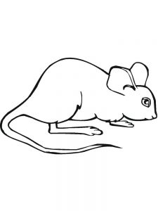 mouse coloring pages printable free