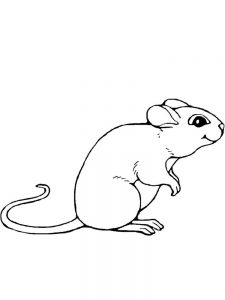 mouse coloring pages to print