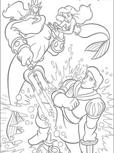my little mermaid coloring page