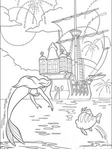 my little mermaid coloring pages