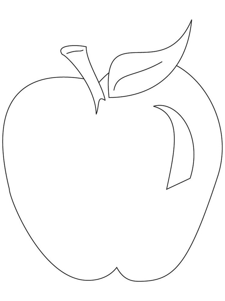 new apple coloring pages