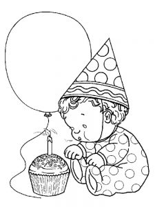 new baby coloring page pdf