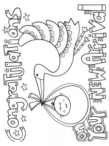 new baby coloring pages pdf