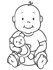 new baby girl coloring pages