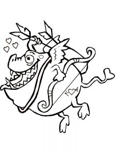 new cupid coloring pages