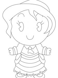 new disney princess cuties coloring pages